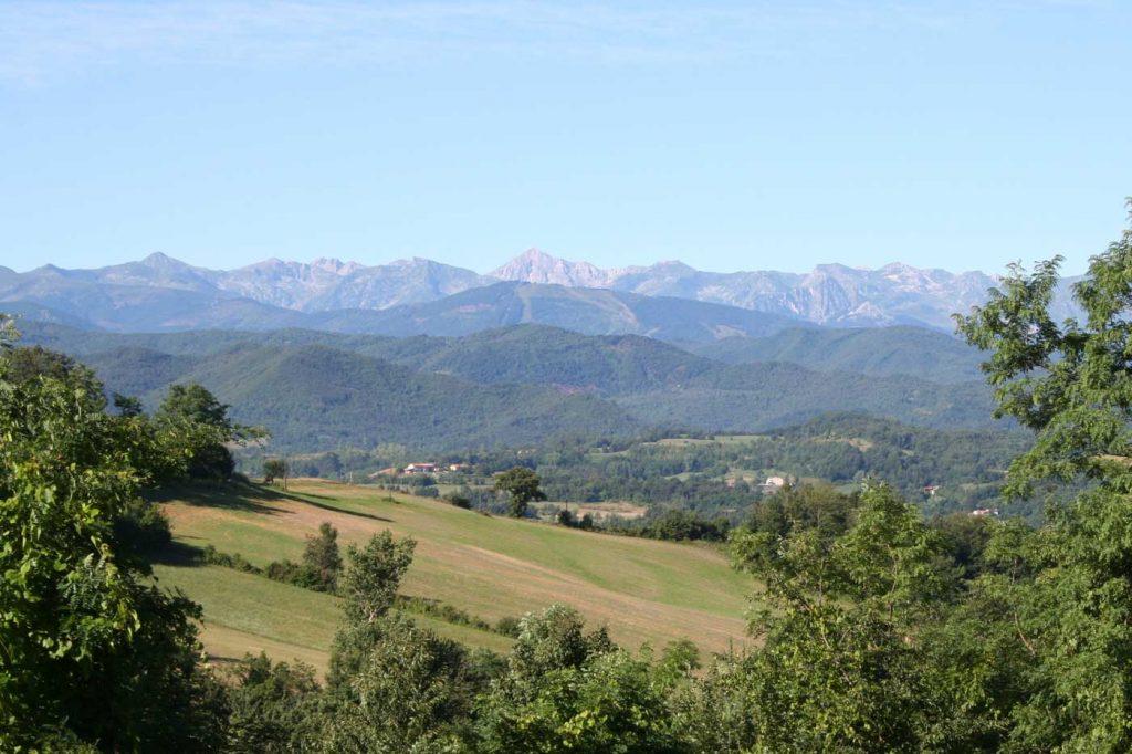 uitzicht in Piemonte