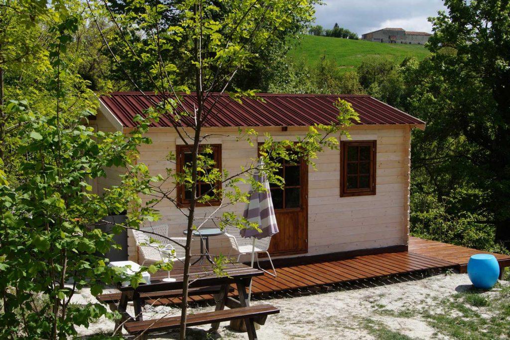 houten huisje voor 2 personen
